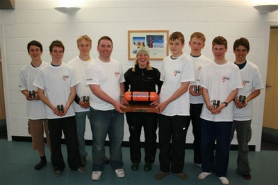 Joint male team winners with Di Gilbert