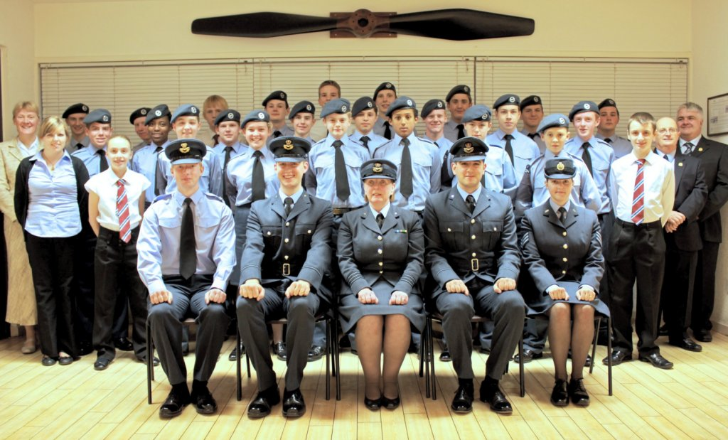 107 (Aberdeen) Squadron with 107 (Aberdeen) Squadron with Wing Commander Joan Gilbert-Stevens