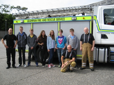 Cadets with members of White Watch