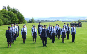 107 (Aberdeen) Squadron on Parade at Douneside