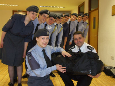 Grampian Police hand over kitbags