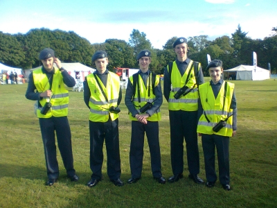Cadets on marshalling duties at the JDRF Walk