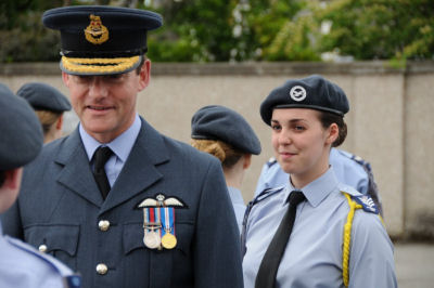 Air Cdre Ian R W Stewart and Flt Sgt Catriona Dick