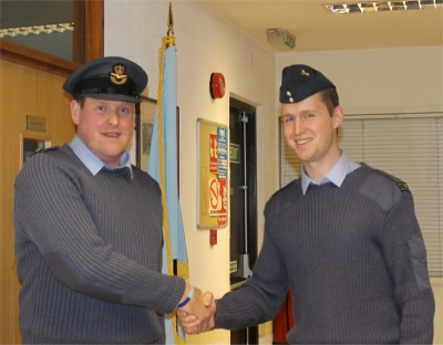 Flt Lt Donald (left) and Flt Lt Bond