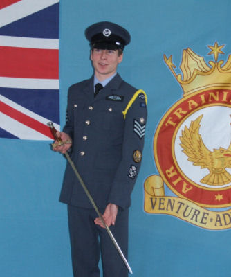 Flt Sgt Fennell with Purdie Sword