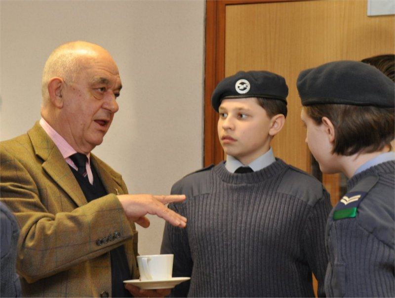 Tea and biscuits with the RAF