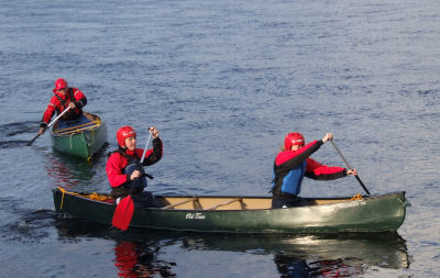 Canoeing on the River Dee
