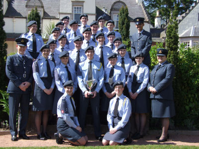 107 (Aberdeen) Squadron with the Lady MacRobert Memorial Trophy