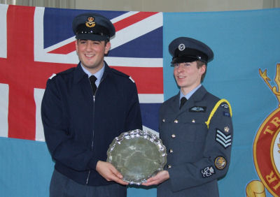 Off Cdt Sinclair and Flt Sgt Fennell